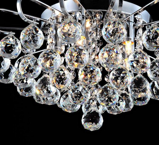 LAMPA ANETTE ŻYRANDOL PLAFON KRYSZTAŁOWY 45cm