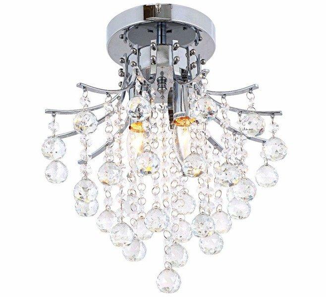 Lampa Kryształowa żyrandol Kryształowy Glamour 40 Cm